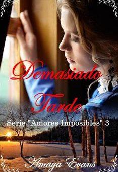 Leer Demasiado Tarde - Amaya Evans (Online)